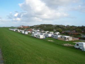 Blick auf den Campingplatz Neuharlingersiel