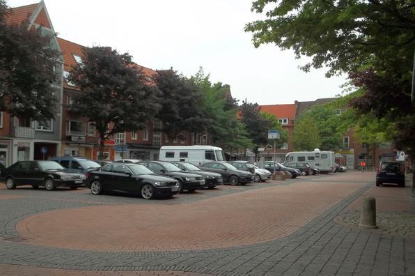 Blick auf den Neuen Markt in Emden