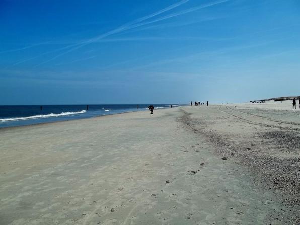 Teil des Strandes der Insel Norderney