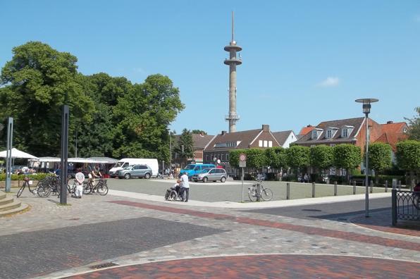 Blick auf den Marktplatz in Norden