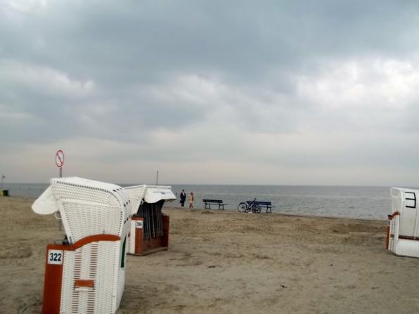 Ein Abschnitt des Strandes in Norddeich