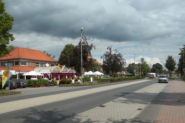 Der zentrale Teil des Ortes Wiesmoor